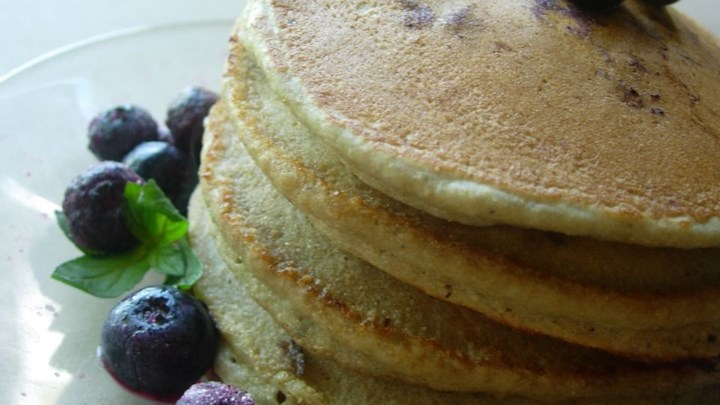 Whole Wheat Blueberry Pancakes